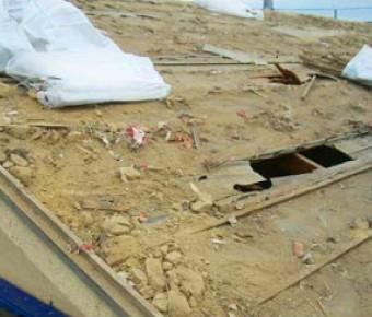 下地が損傷した屋根
