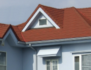 自然石粒仕上げ屋根の写真