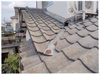 岡山市南区で雨漏り修理 谷板金に錆びてます。