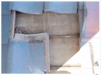 玉野市 雨漏り修理 谷板金のところで雨漏り
