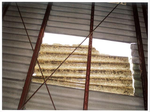 岡山市南区 スレート屋根雨漏り