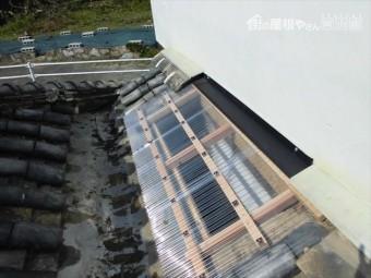 岡山市東区 雨漏りを止めるためポリカ工事