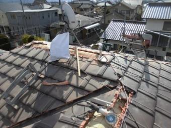岡山市南区 平板防災瓦施工