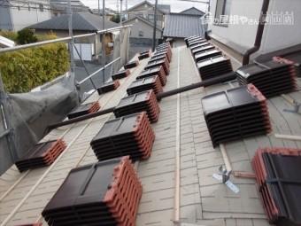 岡山市南区 瓦葺き替え工事