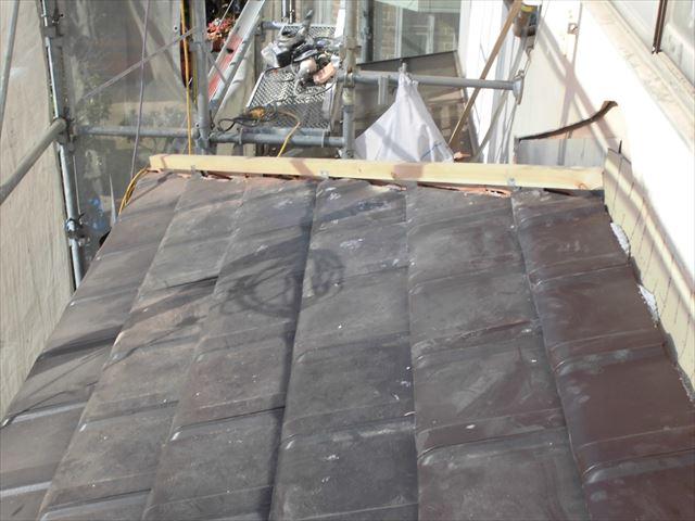 岡山市南区 屋根工事強力棟垂木とり付け
