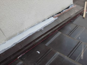 岡山市南区 際熨斗雨押え漆喰施工