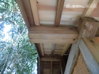 井原市 屋根工事 雨漏り修理 野地、垂木取り替え