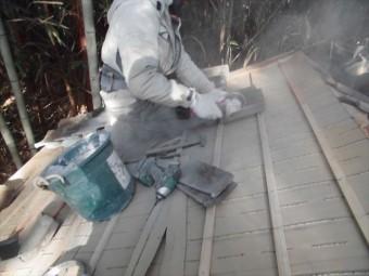 井原市 雨漏り修理 瓦カット