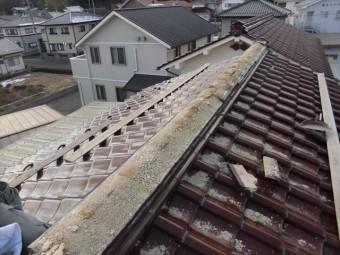 津山市 大崎瓦 棟解体全体
