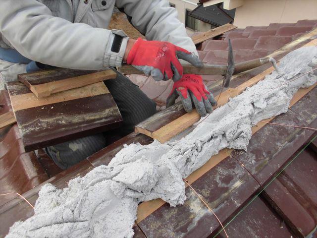 津山市 南蛮漆喰シルガードを使います。