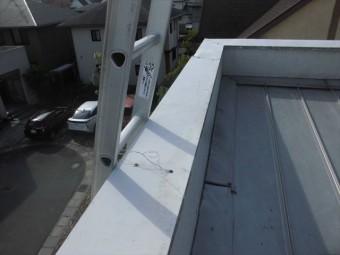 岡山市南区台風で飛んだ板金修理