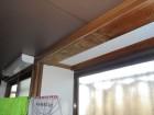 岡山市中区 雨漏り修理 台所柱に雨漏り跡が