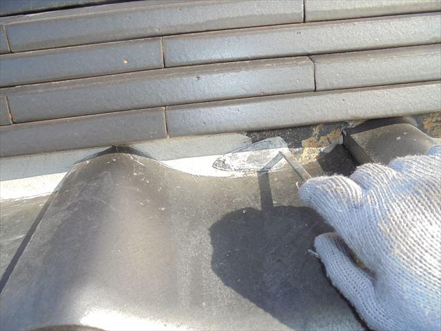 岡山市南区 漆喰入れ替えの工事