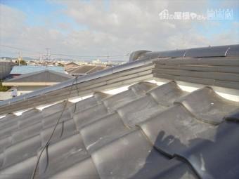 岡山市南区 漆喰入れ替えの工事 完成