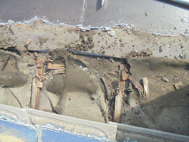岡山市中区 雨漏りのあと