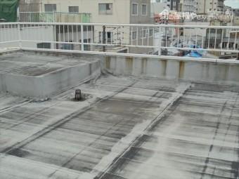 岡山市北区 屋上のシート防水です