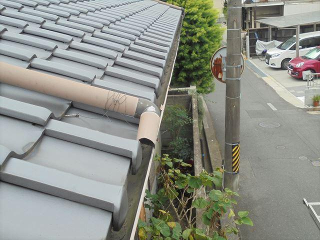 岡山市中区 雨樋は補修