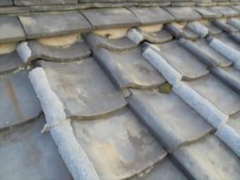 岡山市中区で屋根雨漏り修理 平瓦のズレが激しいです
