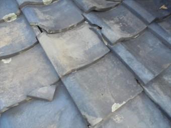 岡山市中区で屋根雨漏り修理 平瓦の割れ瓦