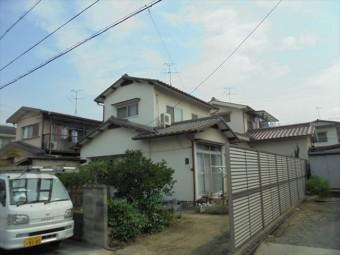 岡山市南区で雨漏り修理 2階建ての切妻のお宅でした