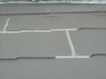 玉野市 カラーベスト カバー工法 コーキング処理