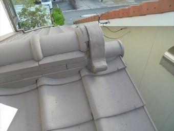 岡山市北区 雨漏り修理 セメントも欠落