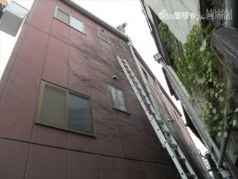 倉敷市雨漏り点検 2連梯子では屋根の上には上がれません