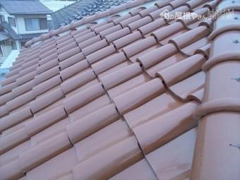 岡山市東区 屋根工事 雨漏りの点検 瓦のズレ
