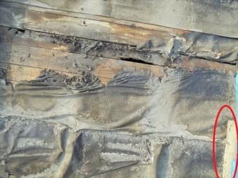 岡山市南区 雨漏り修理 防水紙劣化