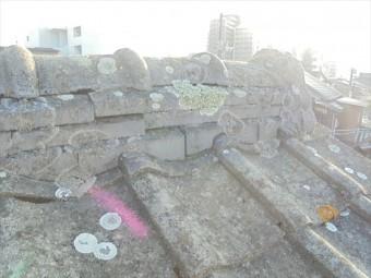 倉敷市で屋根修理 棟瓦のズレ