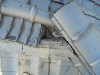 岡山市北区で瓦修理 熨斗の崩れる可能性