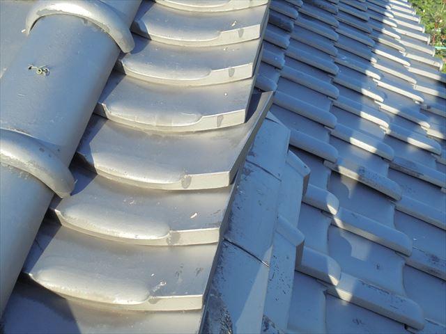 岡山市北区で瓦修理 千枚瓦のズレ