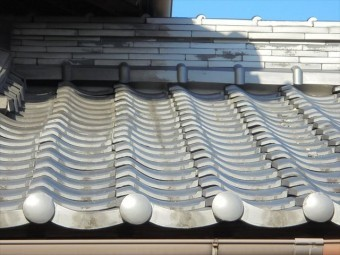 岡山市北区で瓦修理 地瓦のズレ