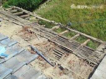 岡山市東区 瓦葺き替え 雨漏り修理 瓦撤去