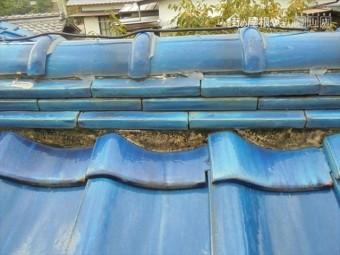 備前市 雨漏り修理 屋根に上がり点検