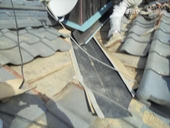 玉野市 雨漏り修理 谷取り換え
