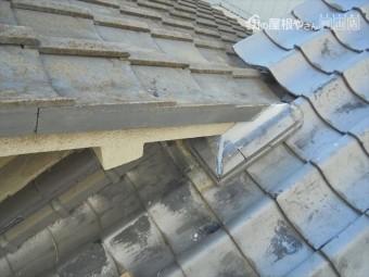 岡山市北区で台風 雨漏り修理 熨斗解体組み立て完成