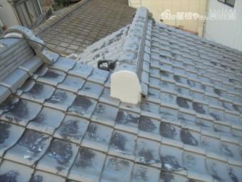 岡山市北区で台風 雨漏り修理 棟の漆喰の修理完了
