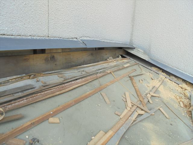 倉敷市 屋根リフォーム 防水紙の状態