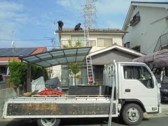 岡山市北区 屋根工事 太陽光システム