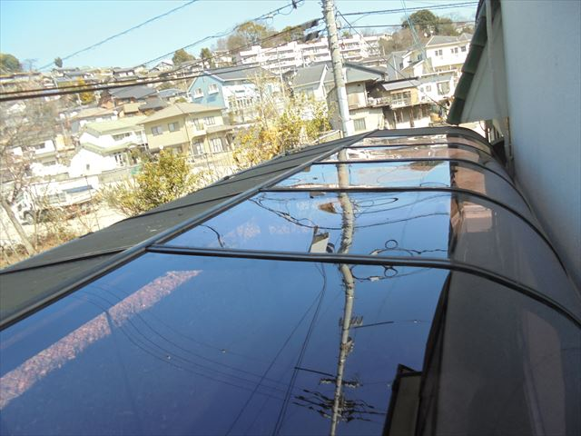 岡山市中区 カーポートの屋根材張り替え