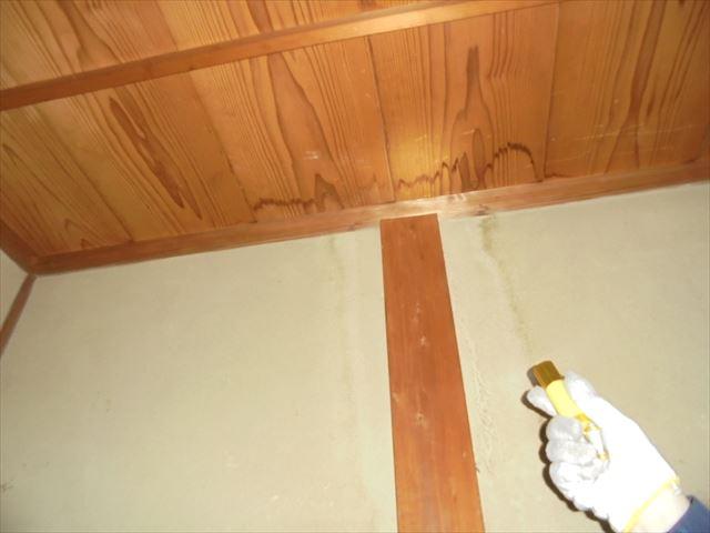 岡山市南区で雨漏り修理。天井を破って木材を確認してくれますか
