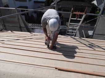 岡山市南区 屋根工事 屋根リフォーム 瓦桟木うち工事