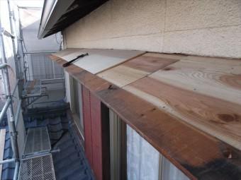 岡山市南区 屋根工事 屋根リフォーム 化粧板張り替えて12mmのコンパネ追い張り
