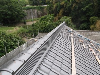 岡山県久米南町 屋根工事 屋根リフォーム 本棟工事完成