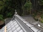 岡山県久米南町 屋根工事 屋根リフォーム 本棟シャチホコ