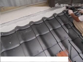 岡山市北区 瓦屋根葺き替え工事 際熨斗施工