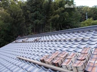岡山県久米南町 屋根工事 屋根リフォーム 棟工事