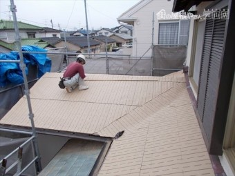 岡山市南区 屋根工事 雨漏り修理 防水シート張り