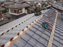 岡山市南区 屋根瓦葺き替え工事